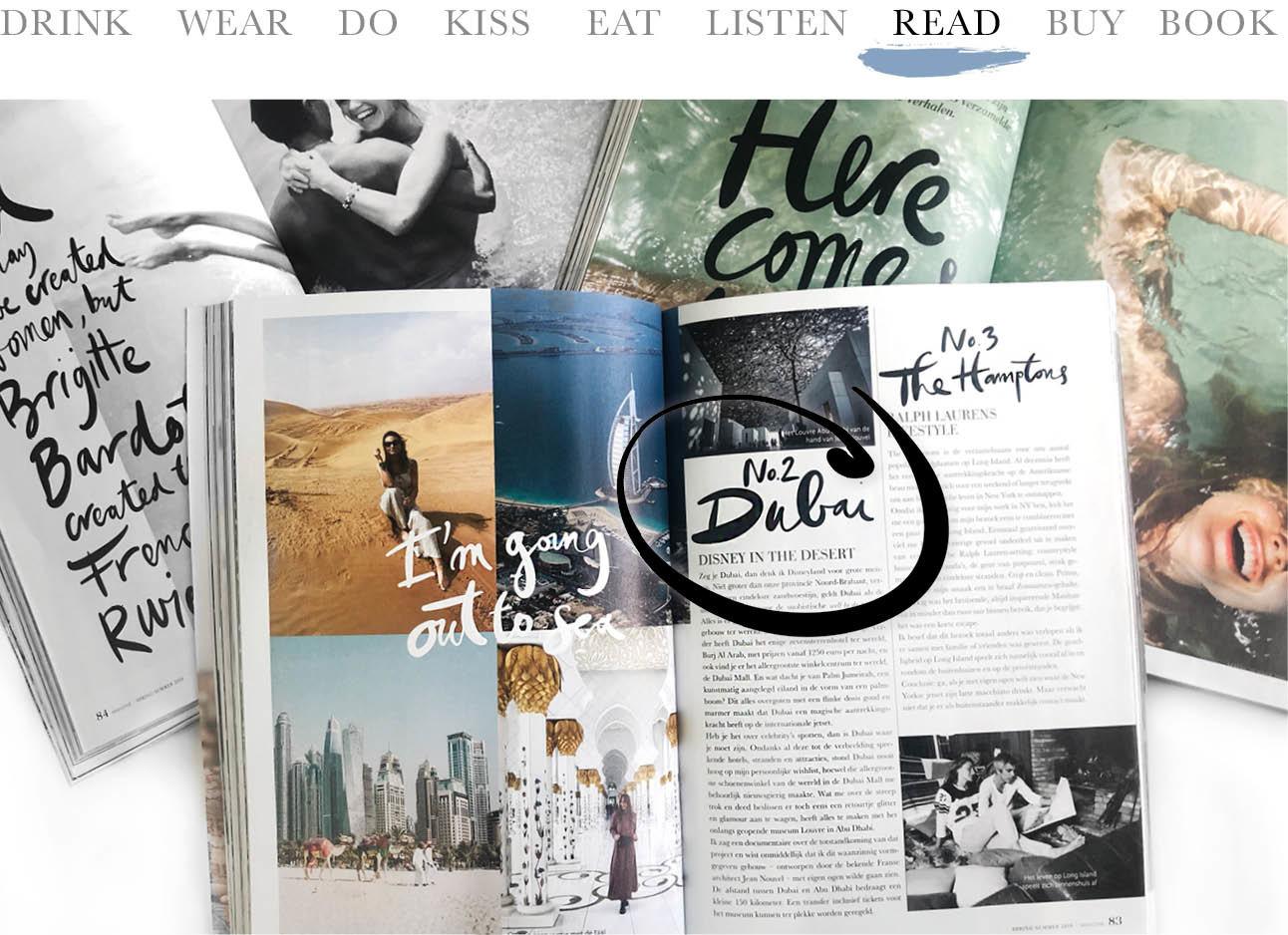 today we read het magazine van amayzine. meerder magazines liggen open geslagen op tafel