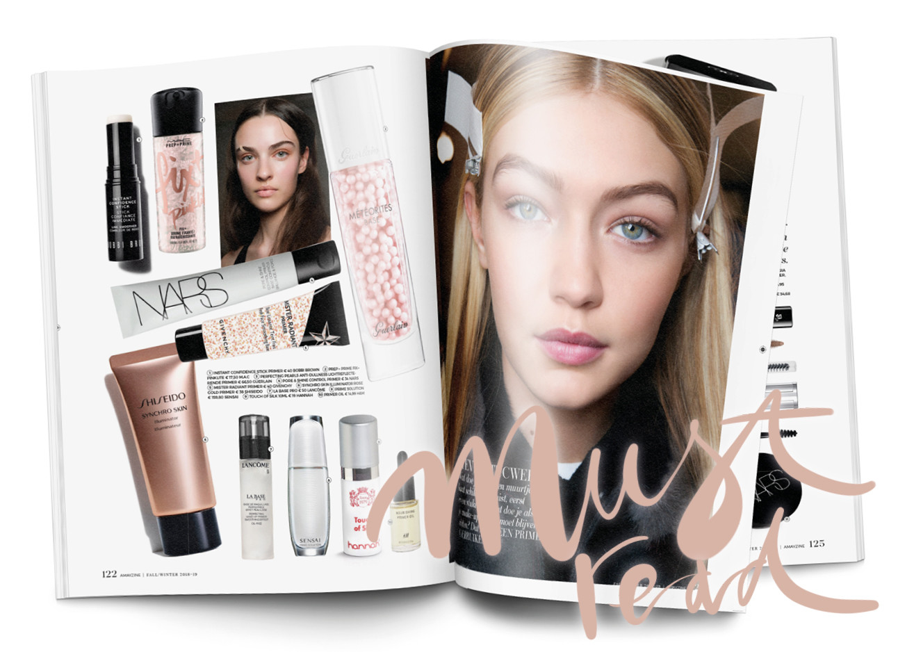 Beauty magazine paginas primers