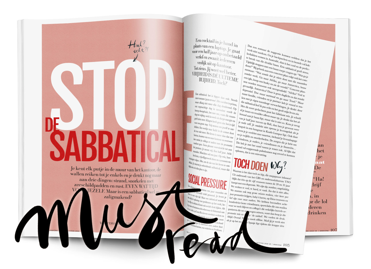 Stop de sabbatical magazine post