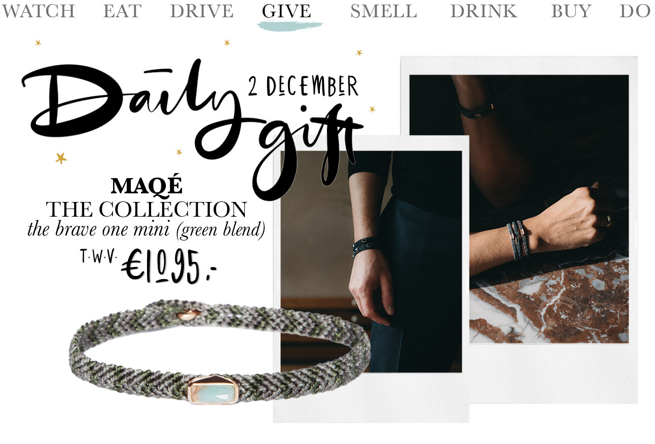 Today we give: MAQÉ The Brave One - mini green blend