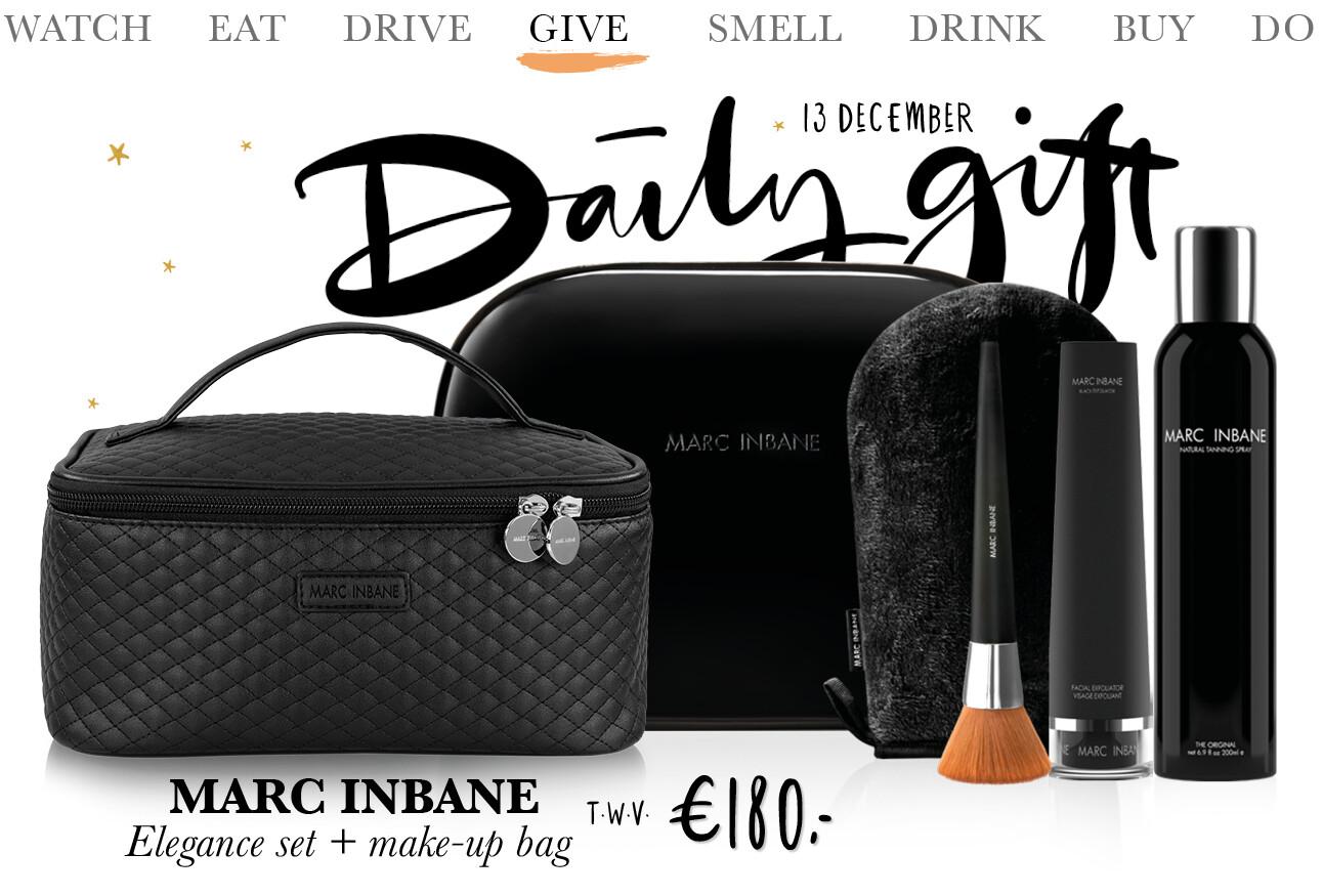 Today we give: een Marc Inbane Elegance set + make-up bag