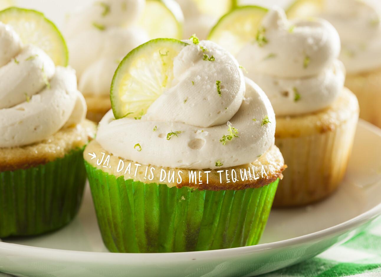 Margarita tequila cupcakes