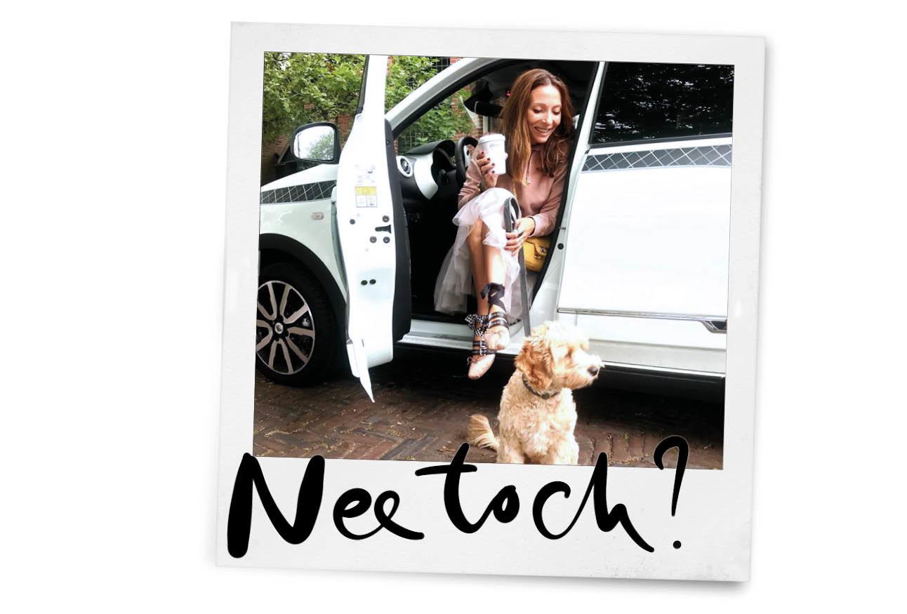 may in renault met haar hond monti
