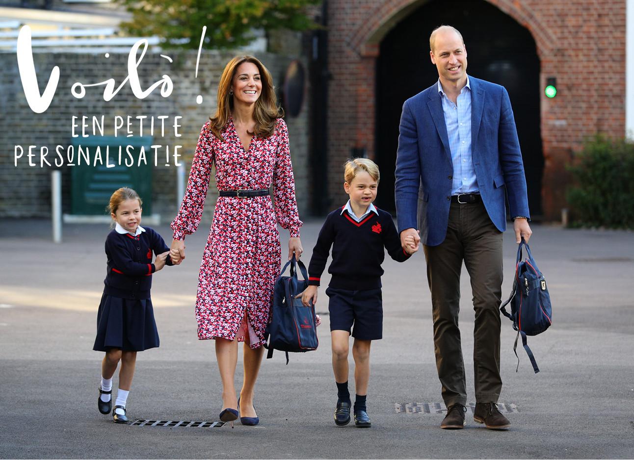 Kate middelton met haar man en kinderen