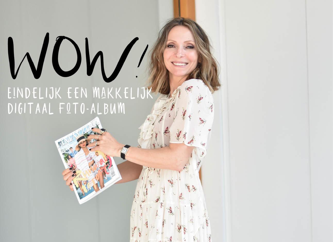 May-Britt Mobach met Amayzine tijdschrift in de hand