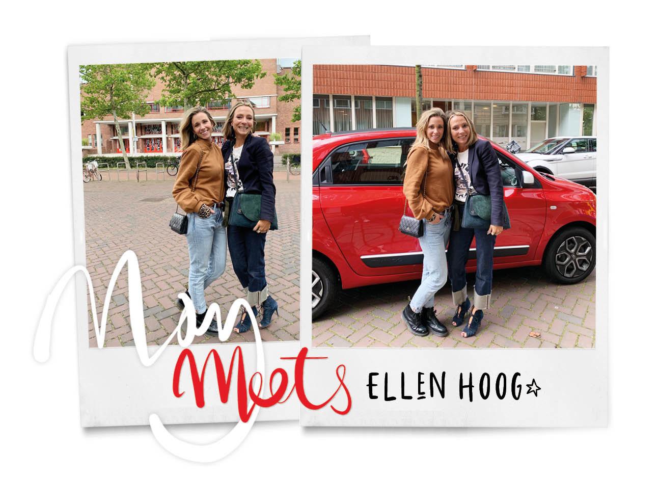 May meets Renault Ellen hoog bij stationplein chanel tas en jeans van denham aan