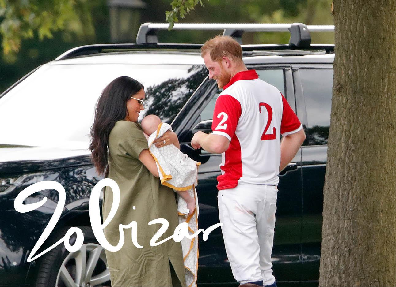 Meghan Markle met Harry en baby bij polowedstrijd