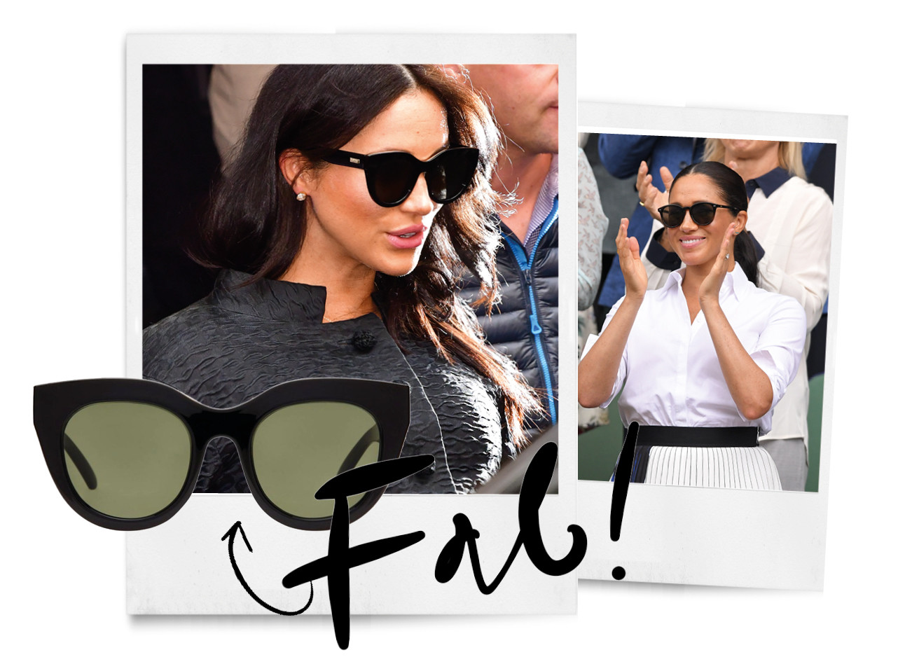 Meghan markle zonnebril le specs air heart trends