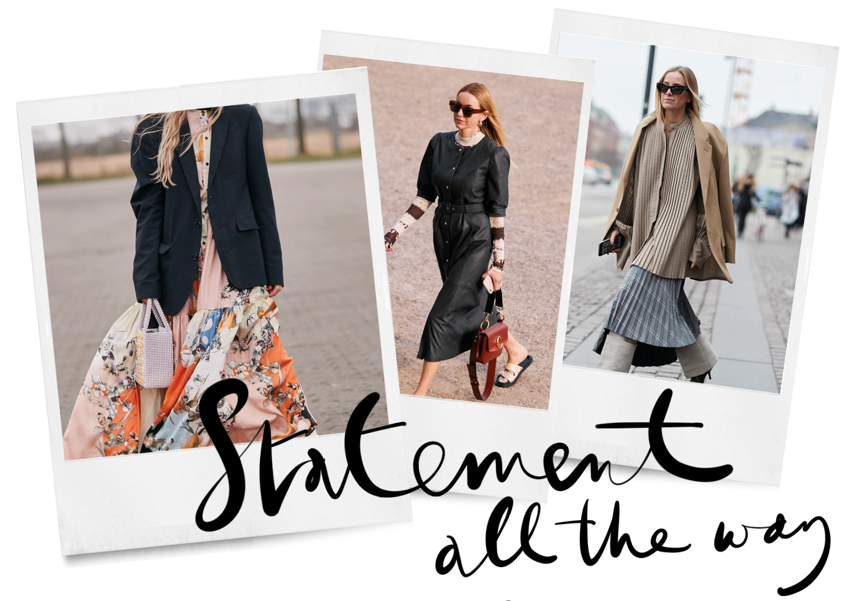 streetstyle beelden. 3 manieren om je zomer jurk te dragen in de winter