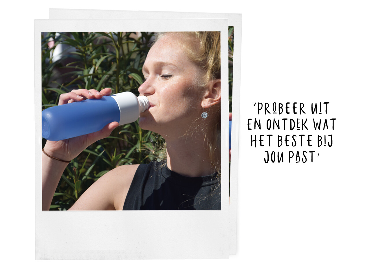 Michelle water drinken dopper