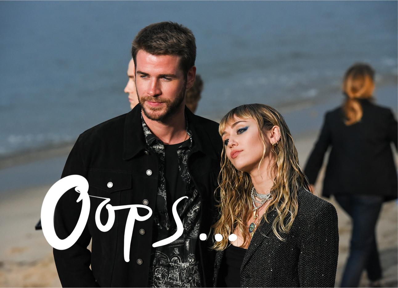 Liam hemsworth en miley cyrus op het strand