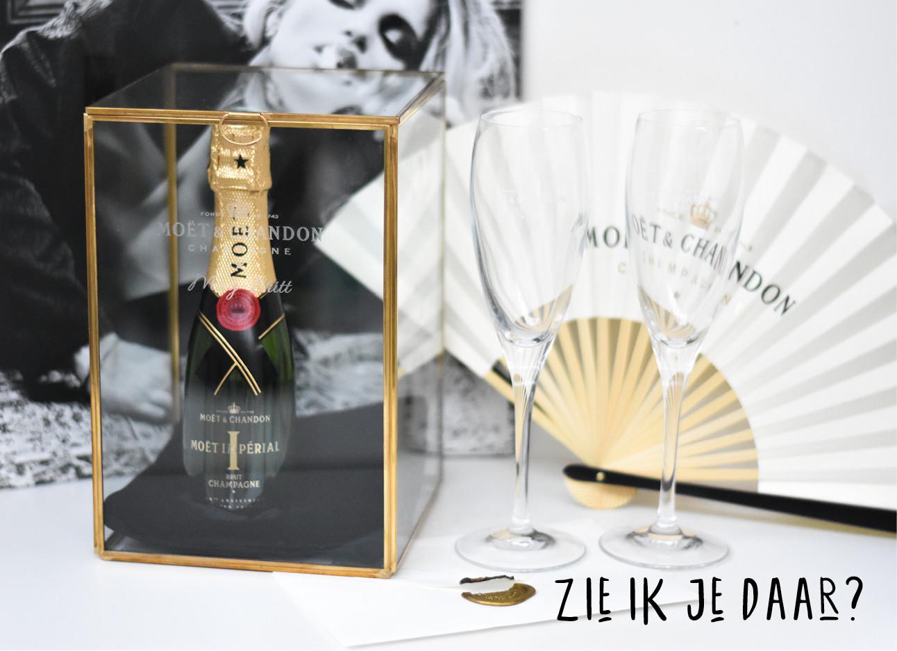 moet champagne uitnodigign
