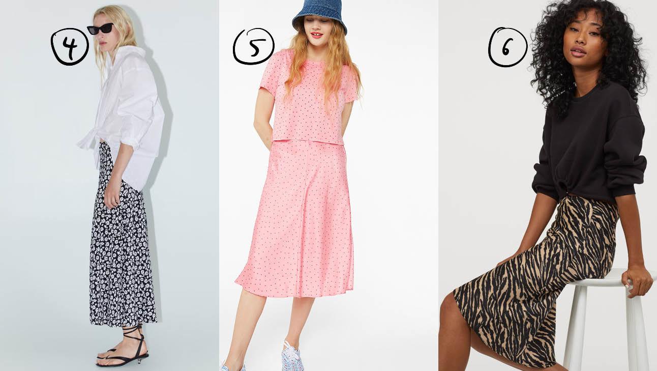 er staan 3 meiden op de foto, de ene draagt een roze rok en de andere een met een luipaard print