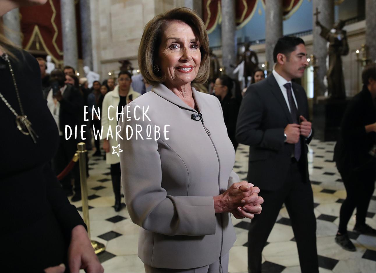 Nancy Pelosi in de VS tijdens een toesprak