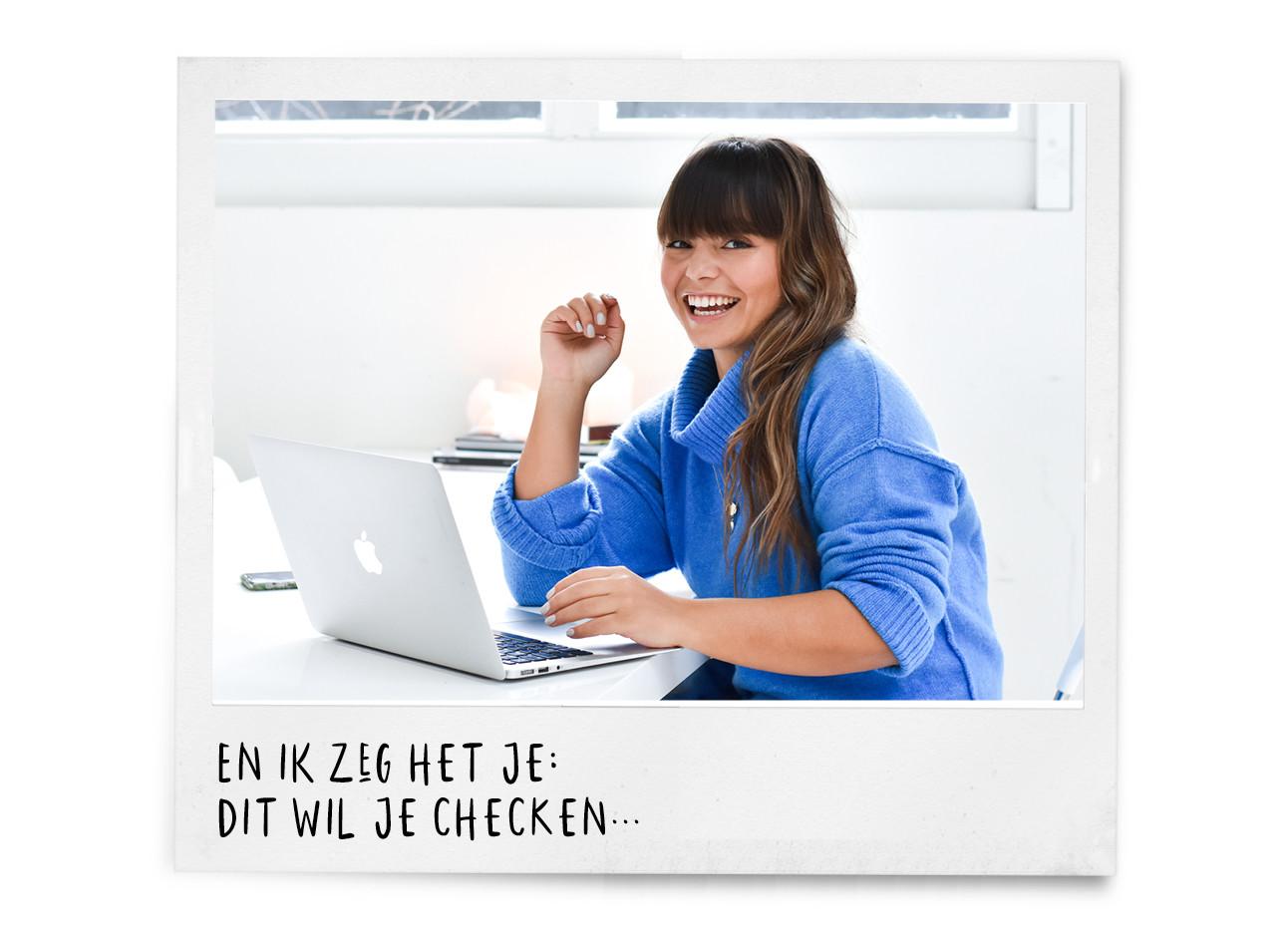 kiki laptop blauwe trui