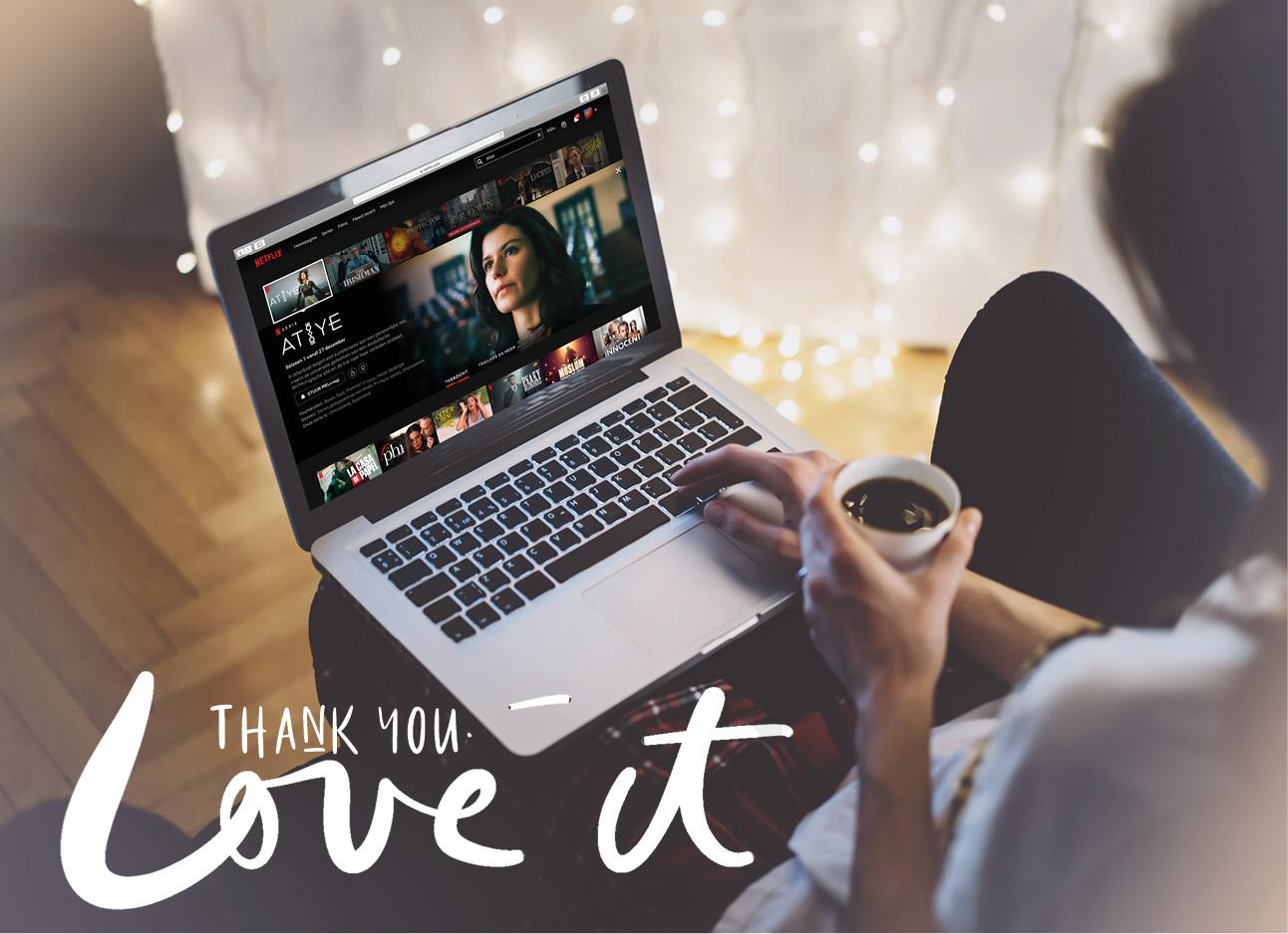 beeld uit de serie the gift op een laptop scherm