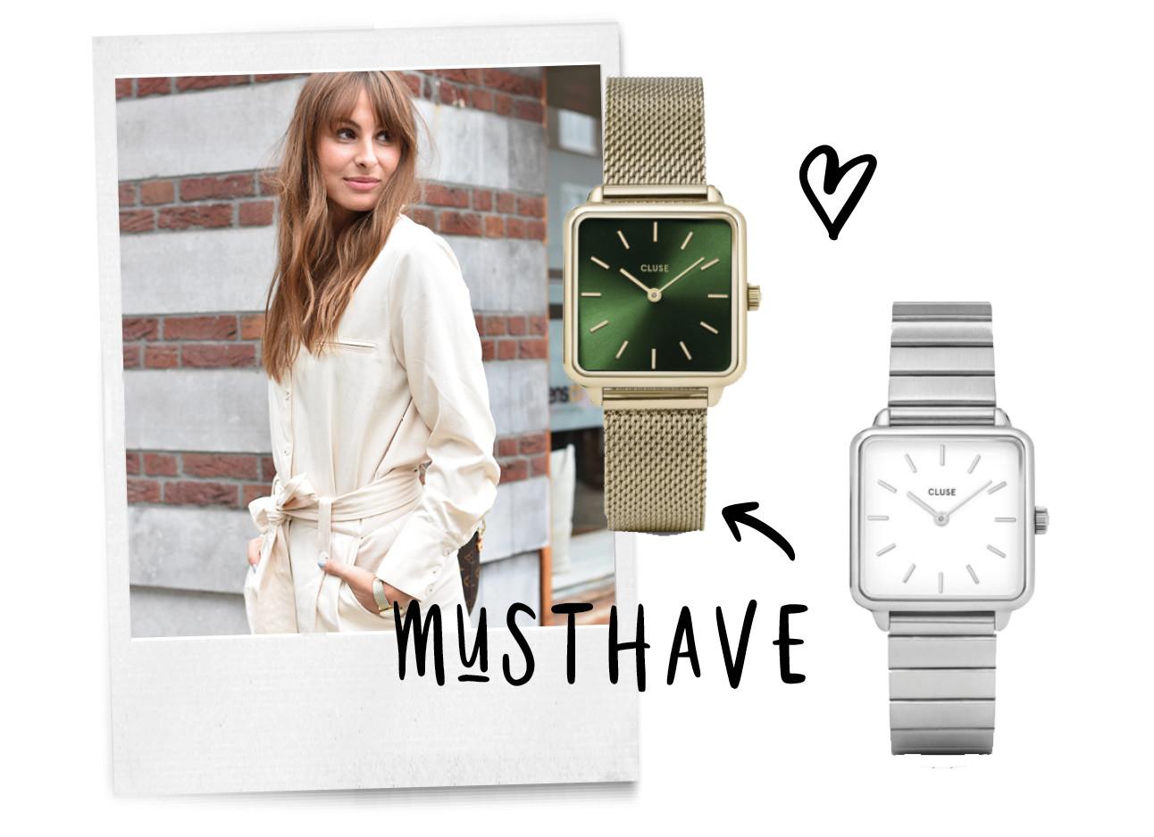 musthave, lilian brijl met cluse horloge, watches, nieuwe collectie