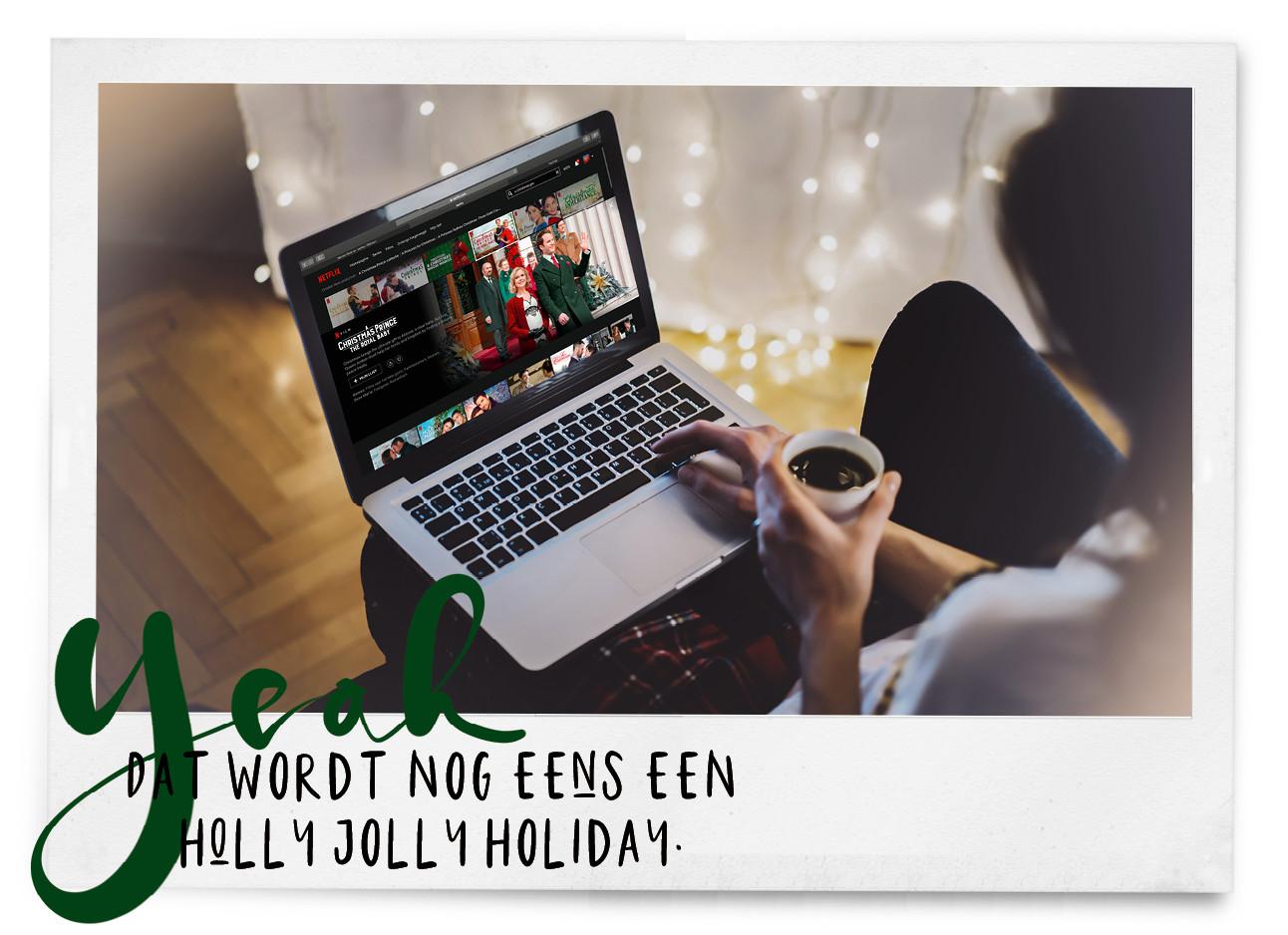 een meisje met een laptop scherm op haar schoot