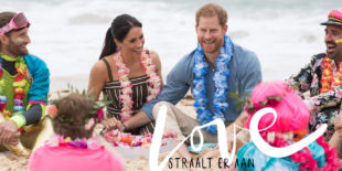 Zo tropisch heb je Meghan en Harry nog nooit gezien