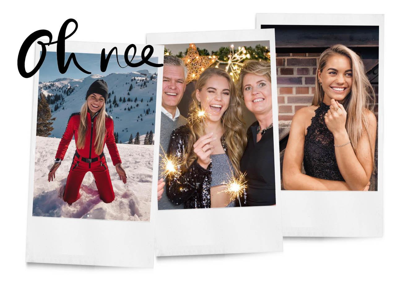 lotte van der Zee overleden foto's met haar ouders en foto van haar tijdens wintersport