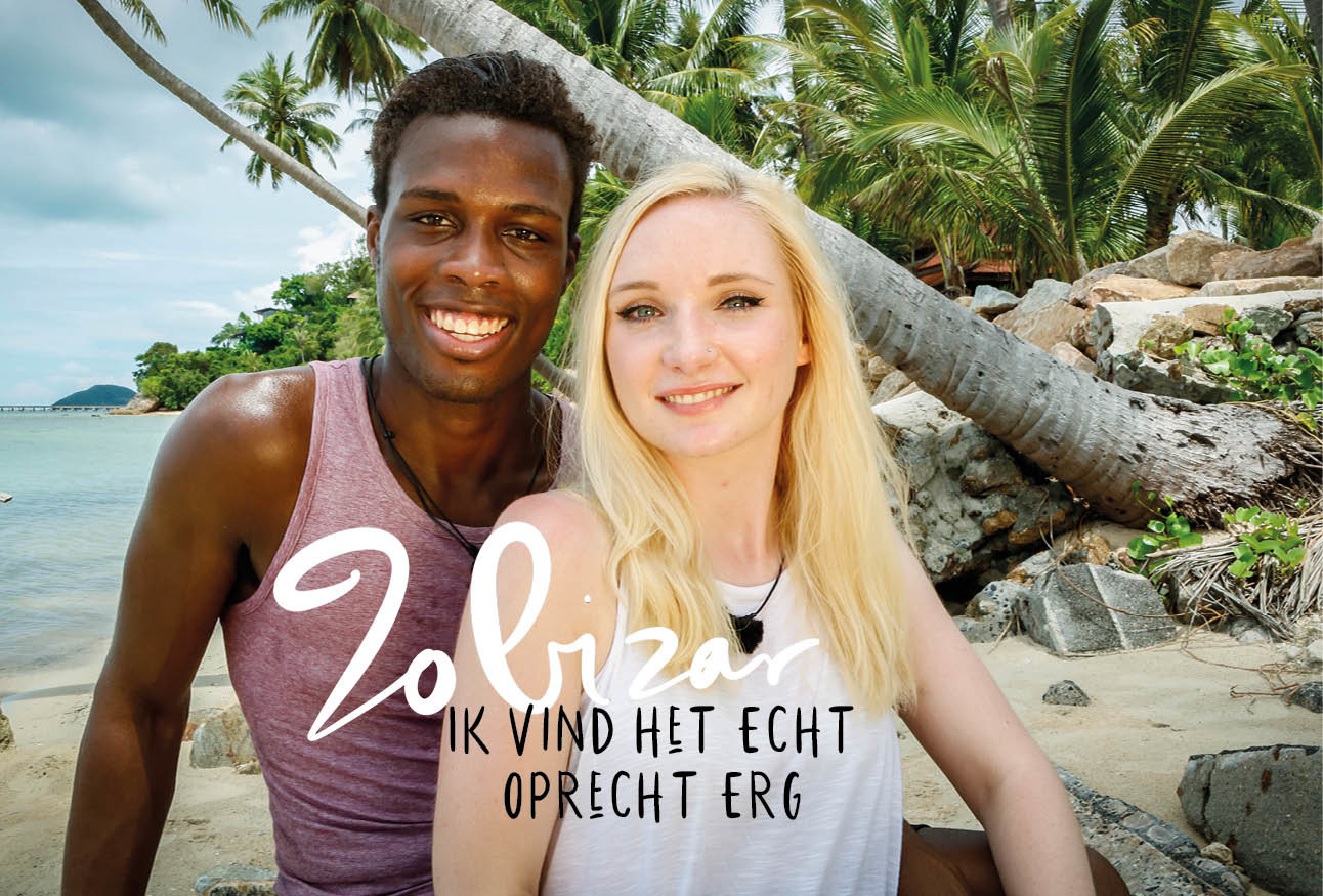 Roger en Laura temptation island op een eiland lachend