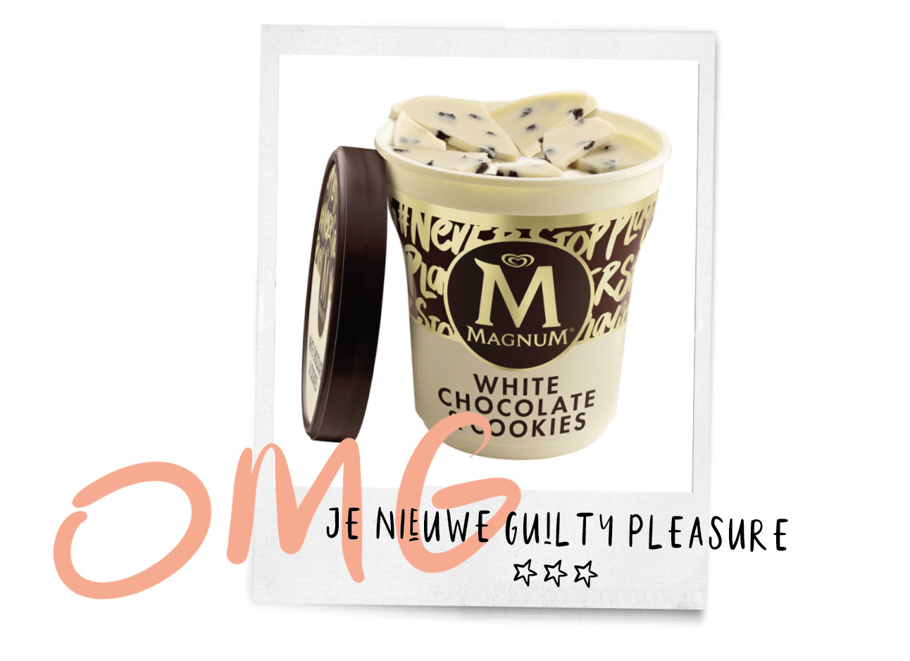 witte chocolade magnum cookie dough guilty pleasure