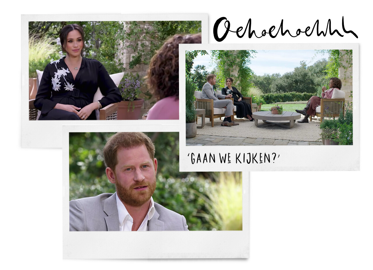 Oprah meghan markle prince harry in de tuin