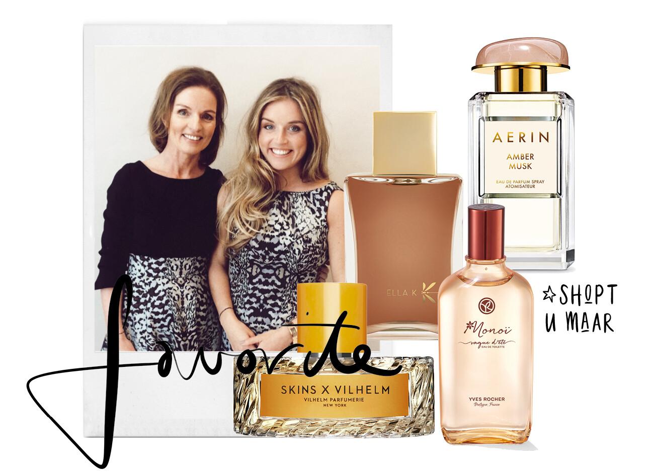 Lotte en moeder parfum flacons shopping
