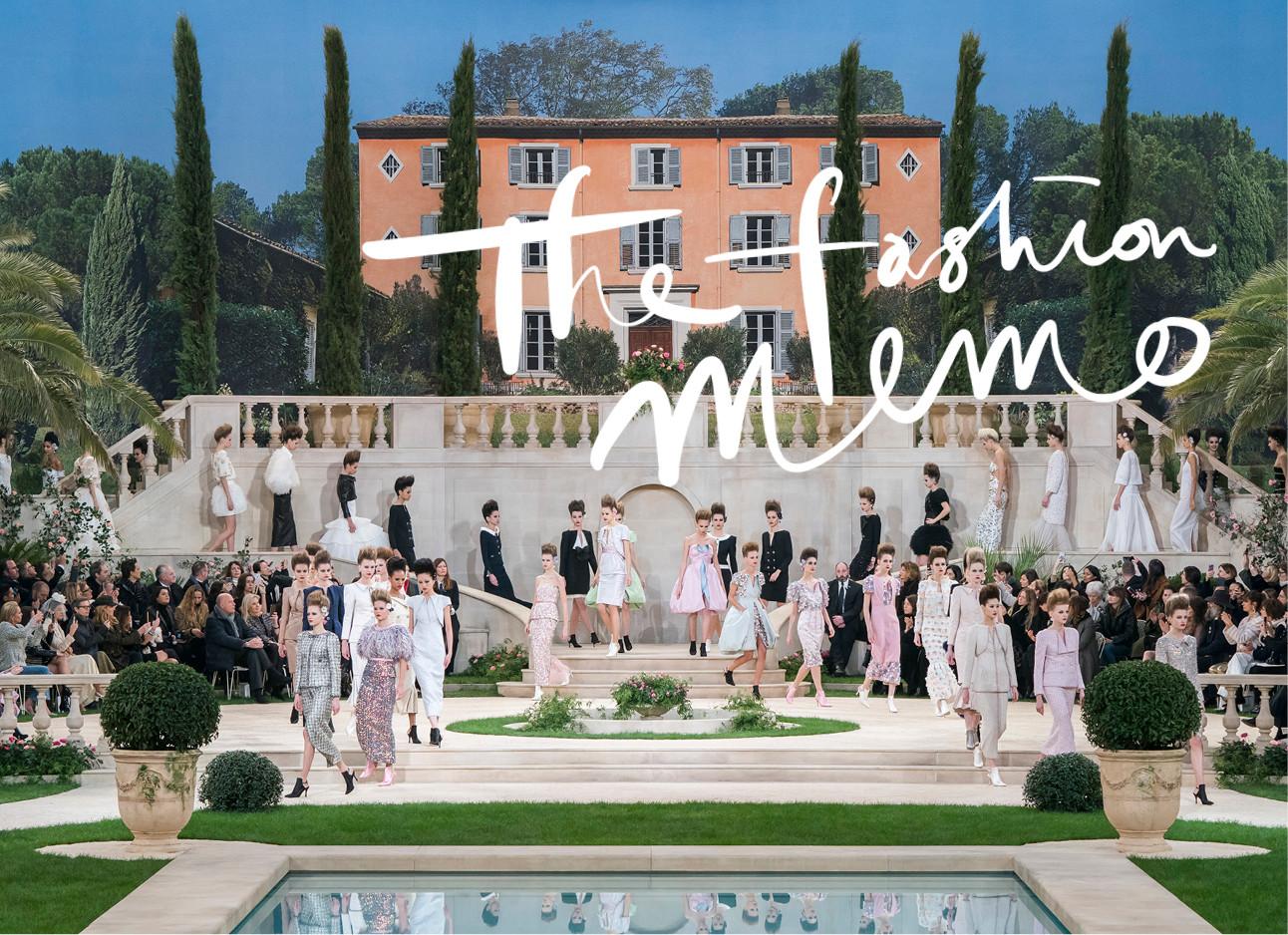 paris fashion week 2019 chanel show einde zomers zwembad mooie villa