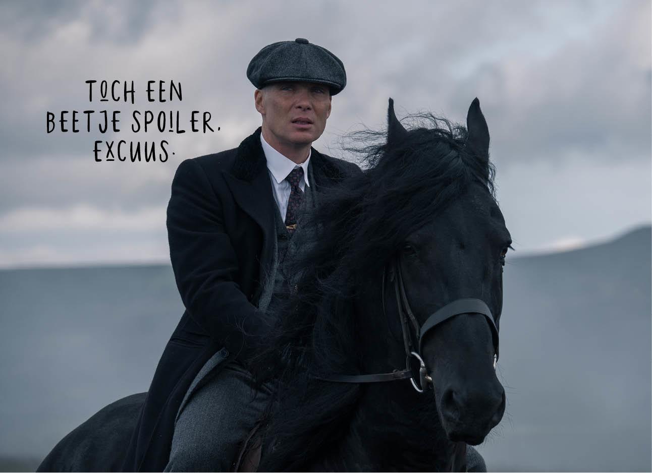 Peaky Blinders seizoen 5 op een paard