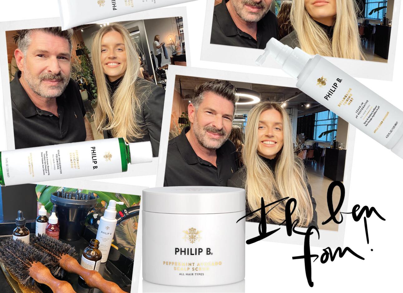 philip B en Lotte van Scherpenzeel scalp booster product nieuw haar