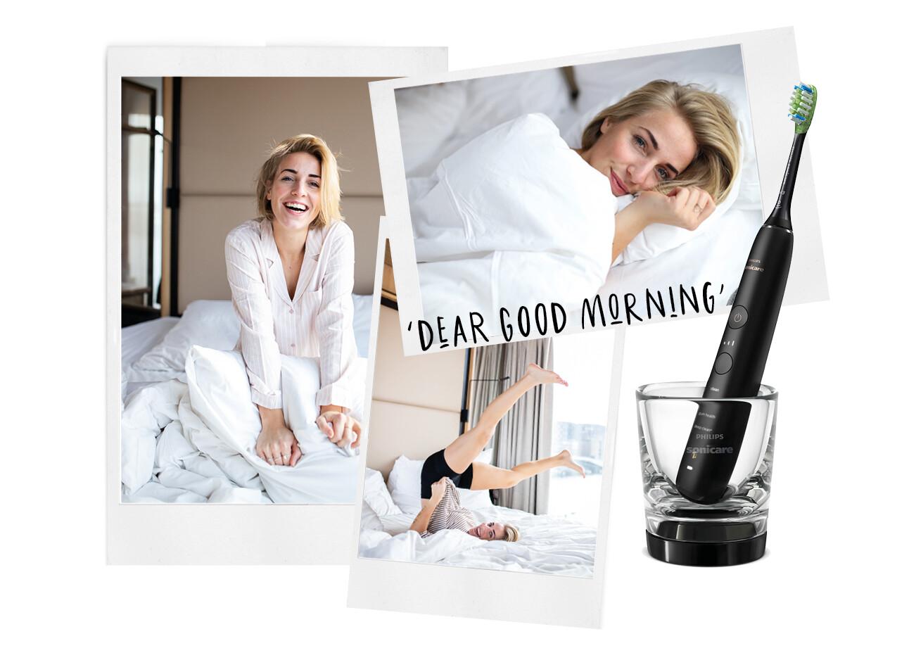 Lienke de Jong dear goodmorning Philips diamond clean tandenborstel
