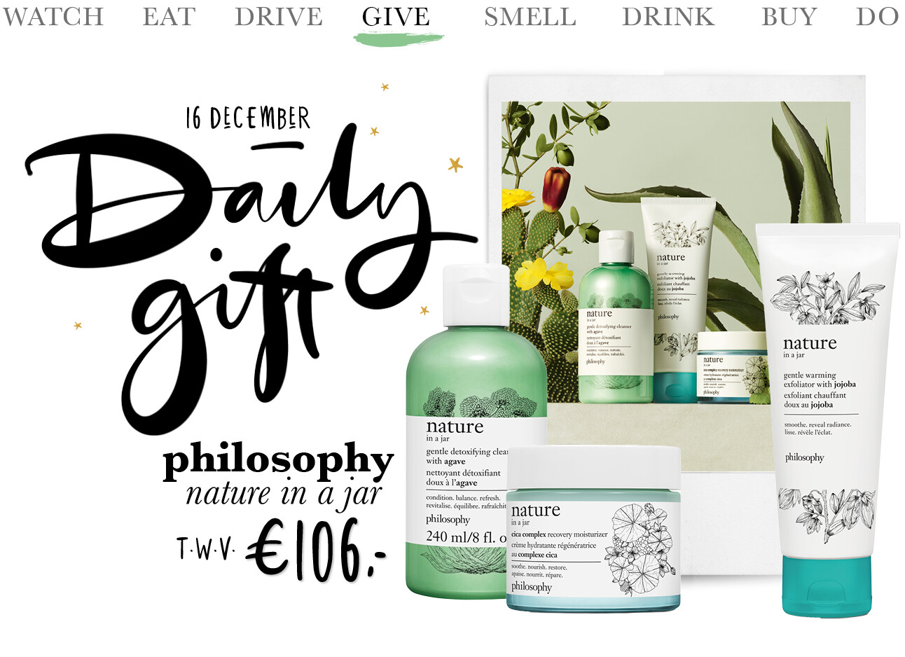 Today we give: een philosophy nature in a Jar