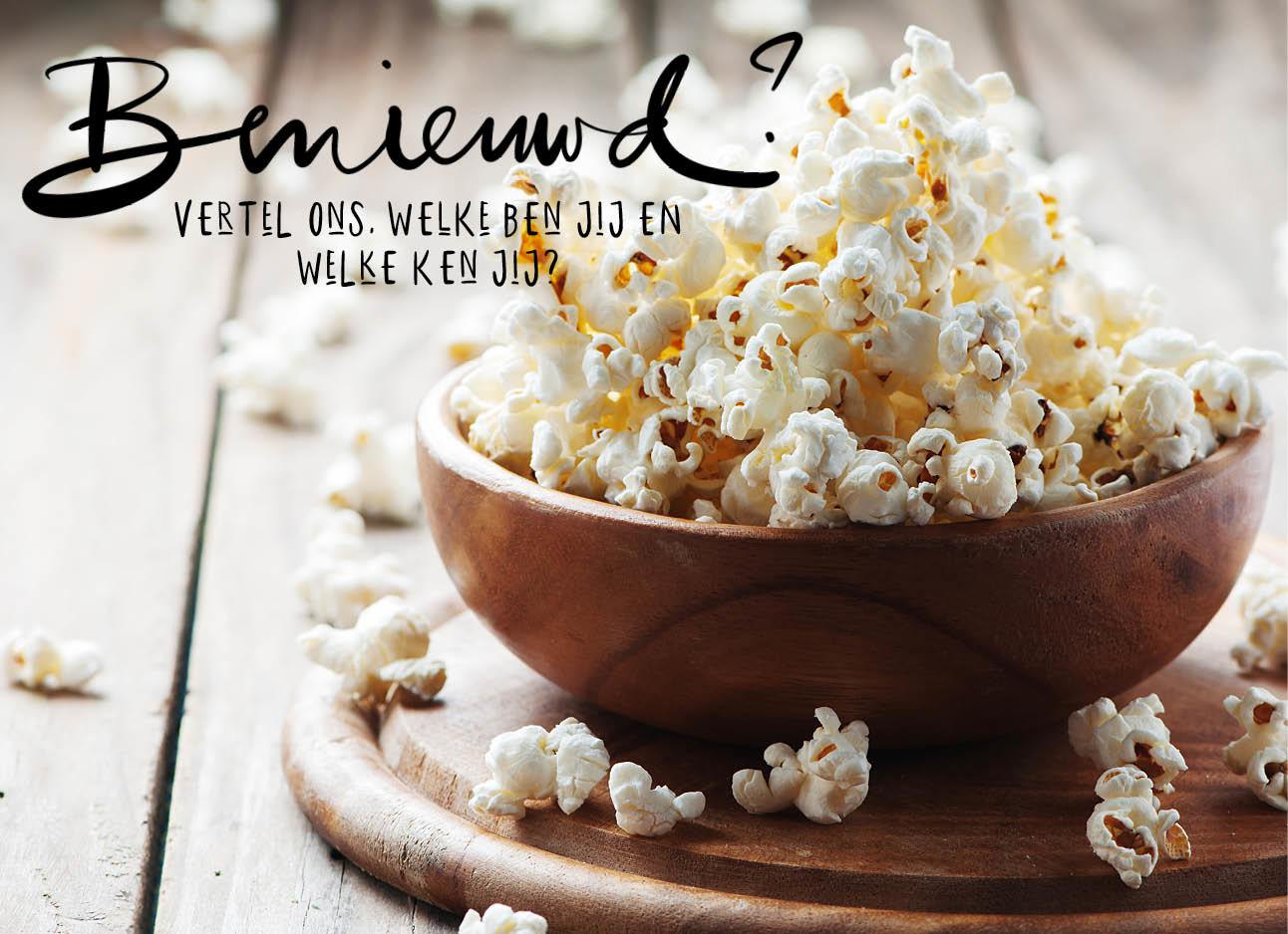 Bak met popcorn
