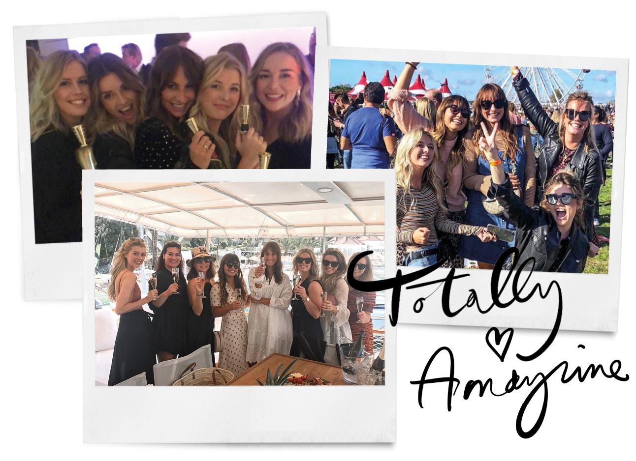 team foto's van het team van amayzine, festival, champagne, vakantie