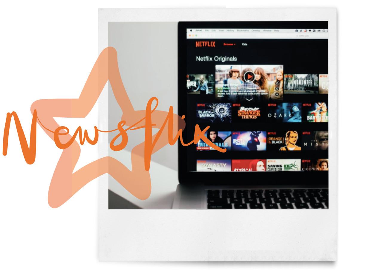 netflix of beeldscherm newsflix ster en polaroid
