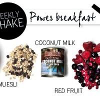 Weekly shake: power breakfast