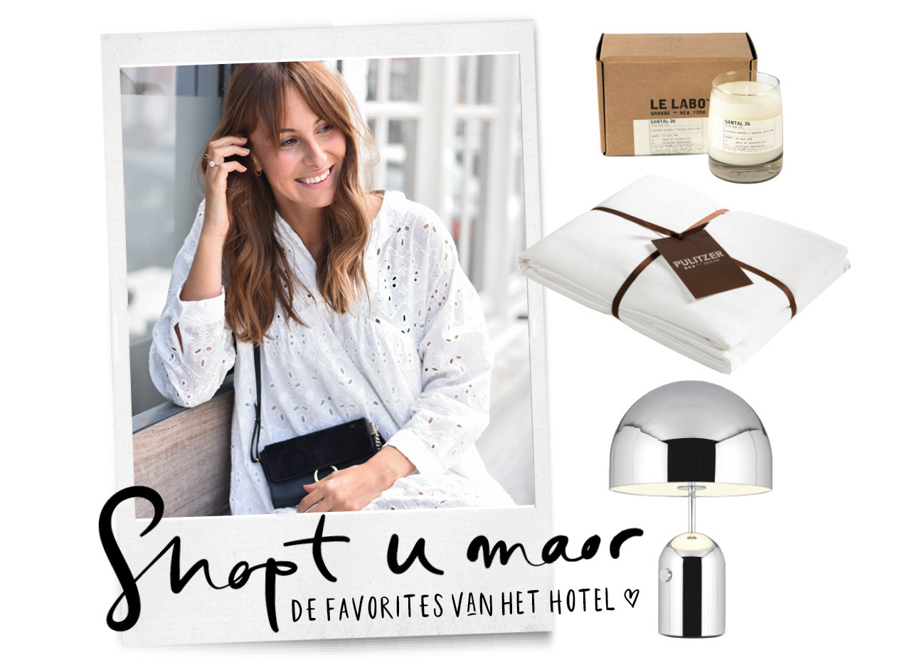 Lilian Brijl met Pulitzer home shopping items