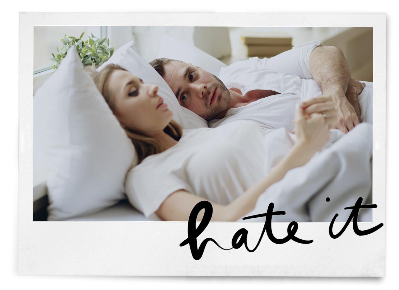 vrouw en man in bed