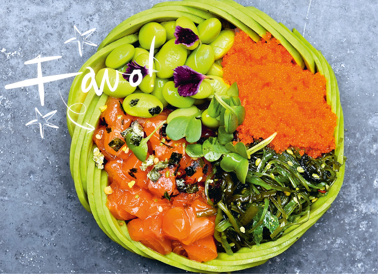 avocado poke bowl show