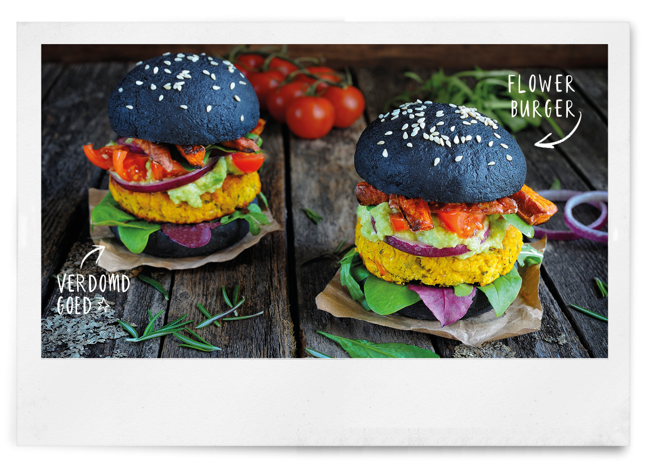 Vegan color burgers