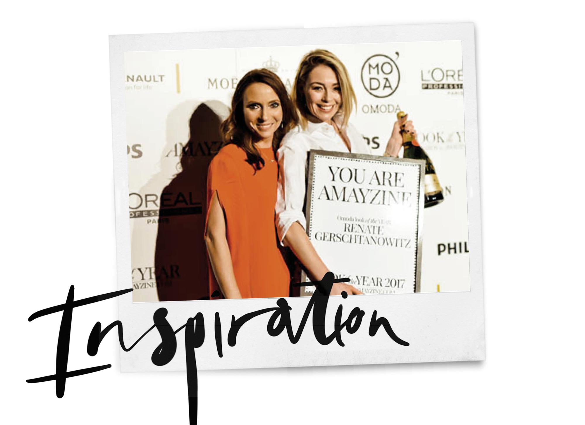 may en renata at the look of the year awards van amayzine inspiration