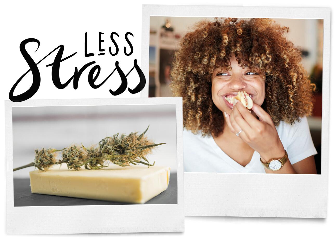 Wietboter op je boterham verminderd stress