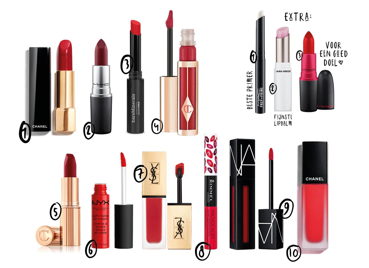 rode lippenstiften shopping