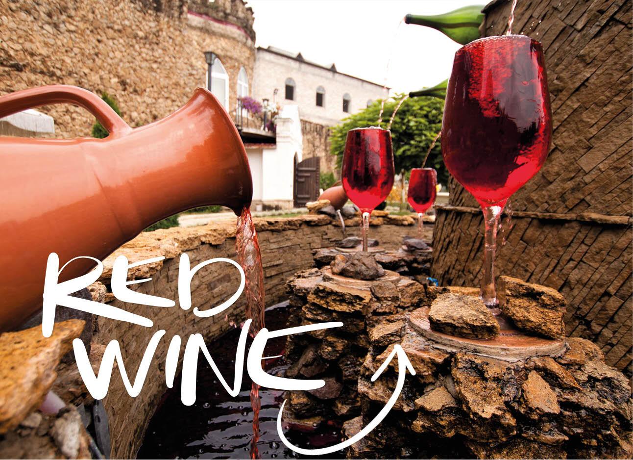 Free Wine Fountain in Italië