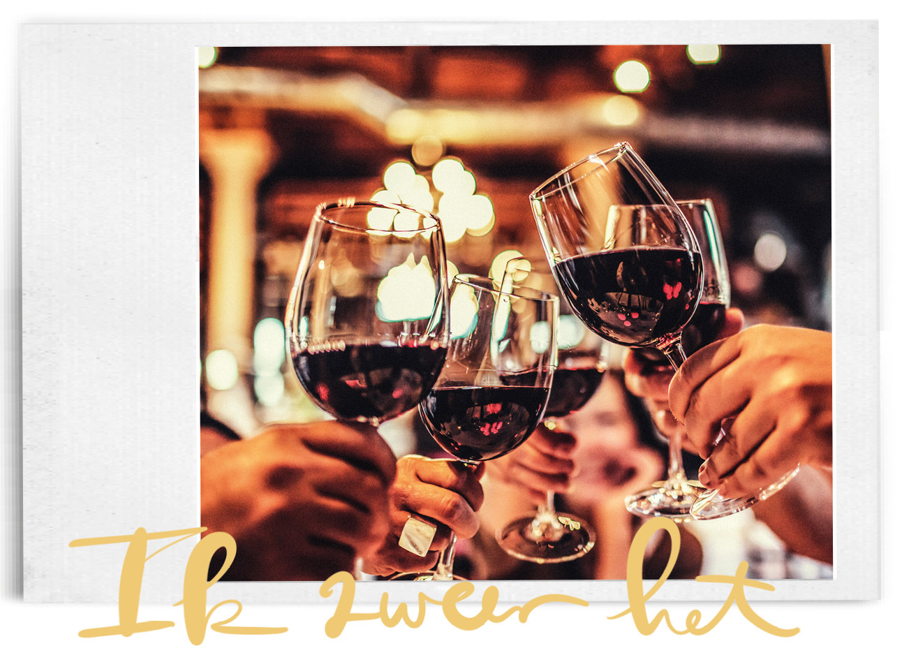 rode wijn proosten