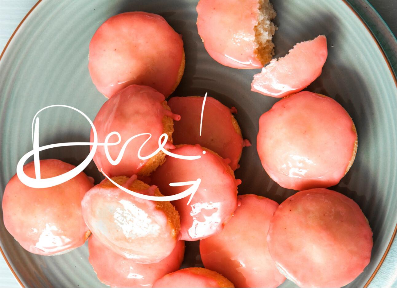 homemade roze koeken