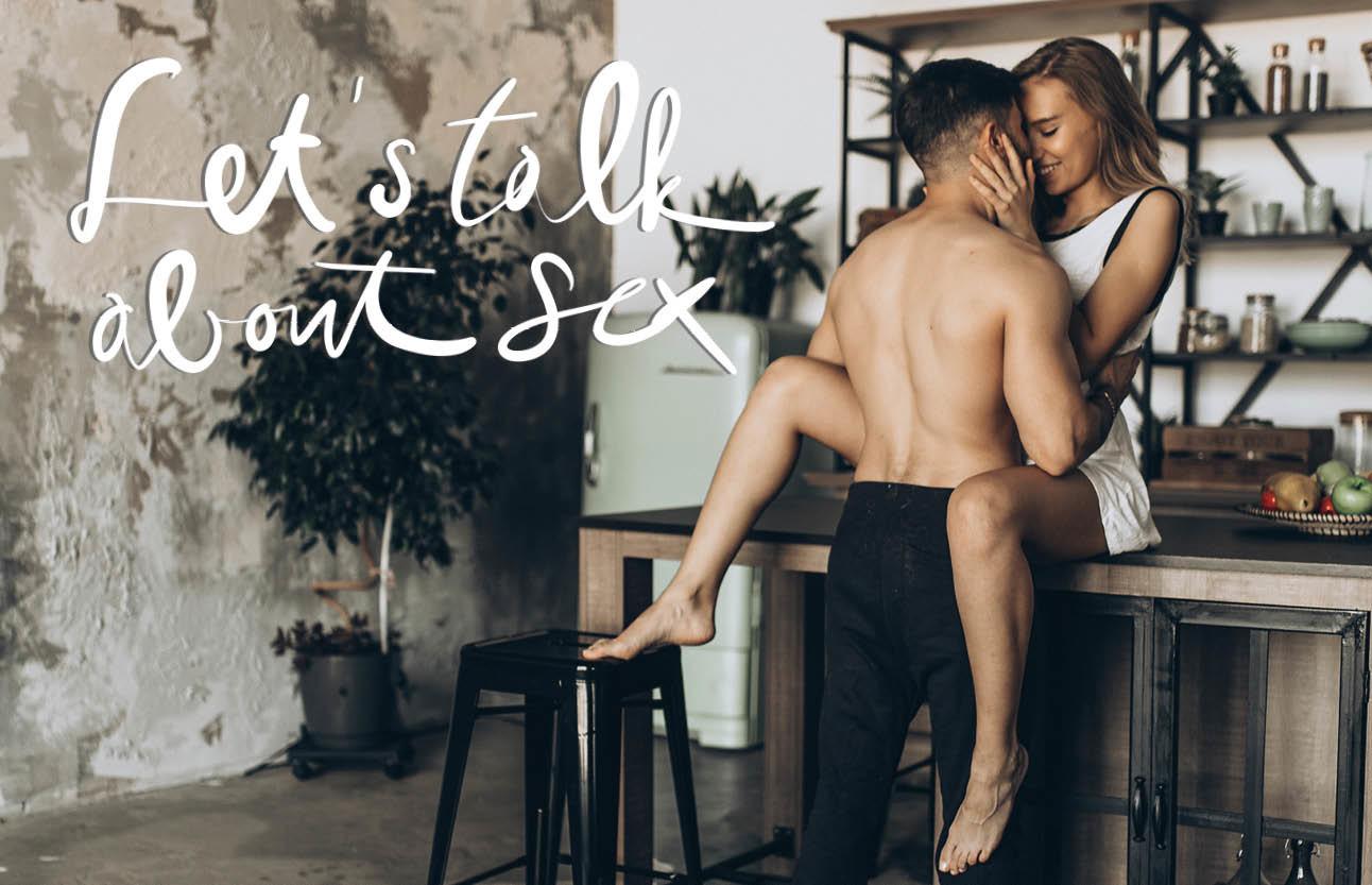 vrouw en man in de keuken seks hebben