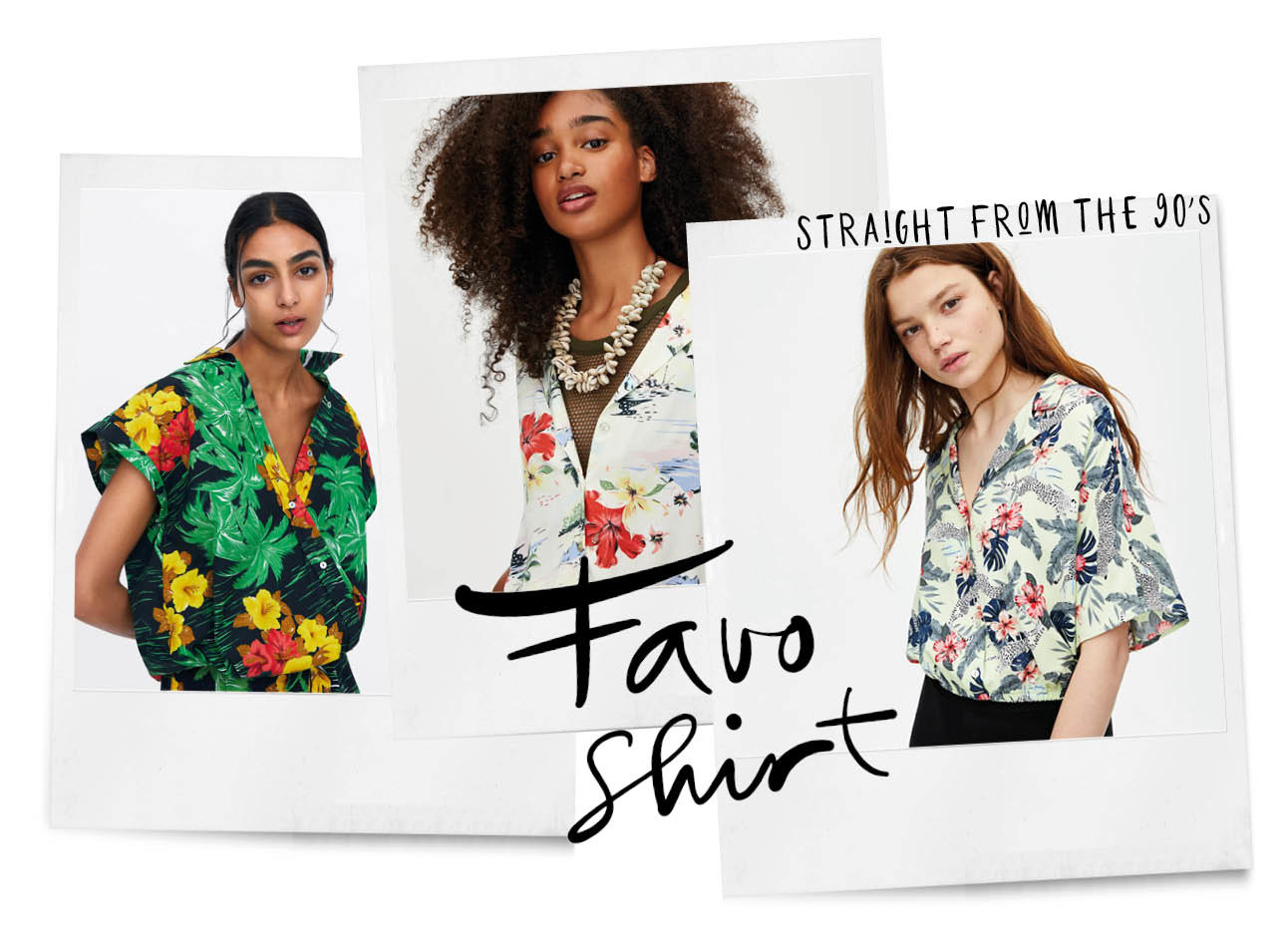 hawai t-shirt Zara vrouwen modellen zomers