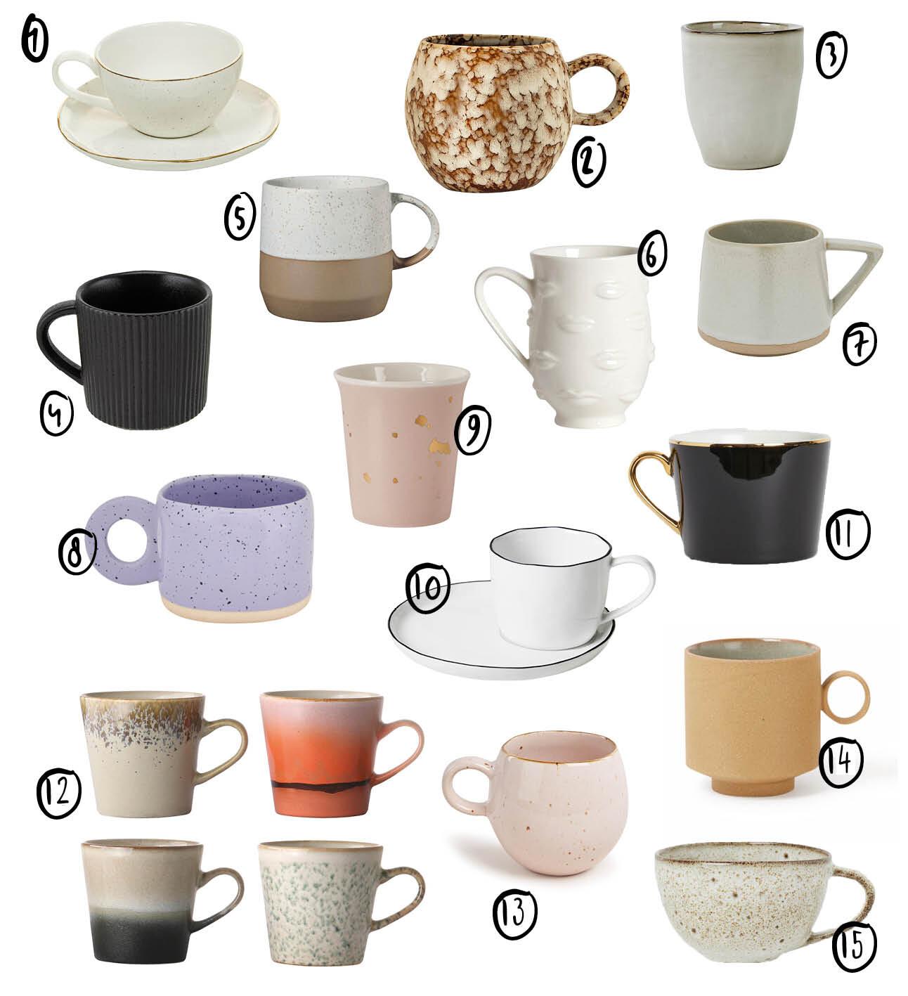 De mooiste koffiemokken om je dag extra goed mee op te starten